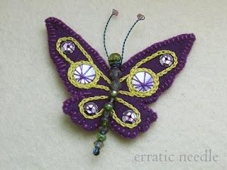 borboleta feltro