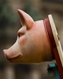 varkenskop op rathaus-weihnachtsmarkt