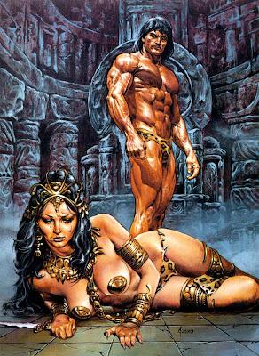 Muscley Tarzan idiot