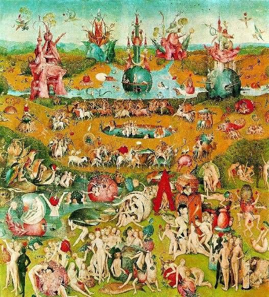 Grandes maestros de la pintura universal el jard n de las for El jardin de las delicias detalles