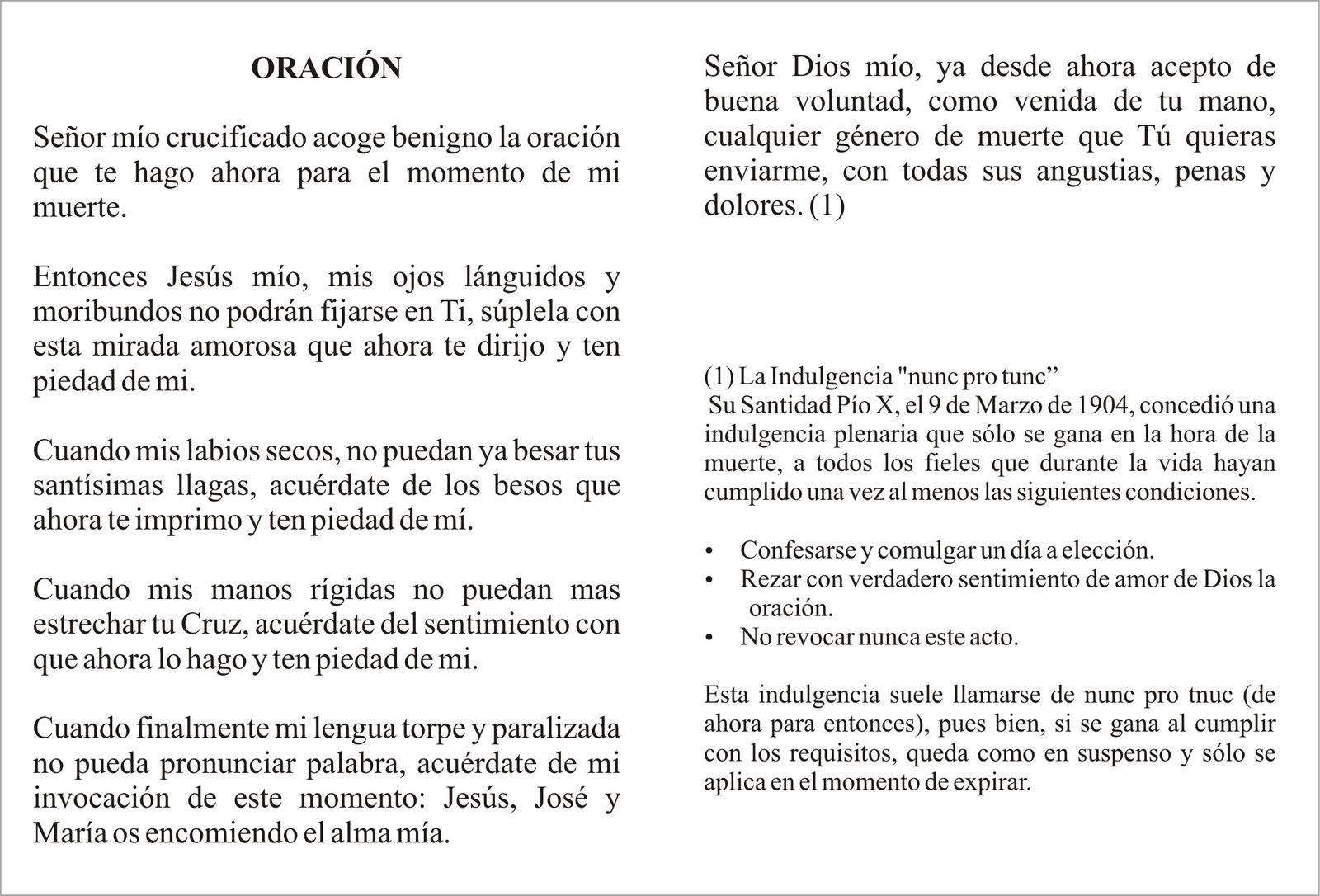 TARJETAS Y ORACIONES CATOLICAS: CON EL CRUCIFIJO EN LA MANO