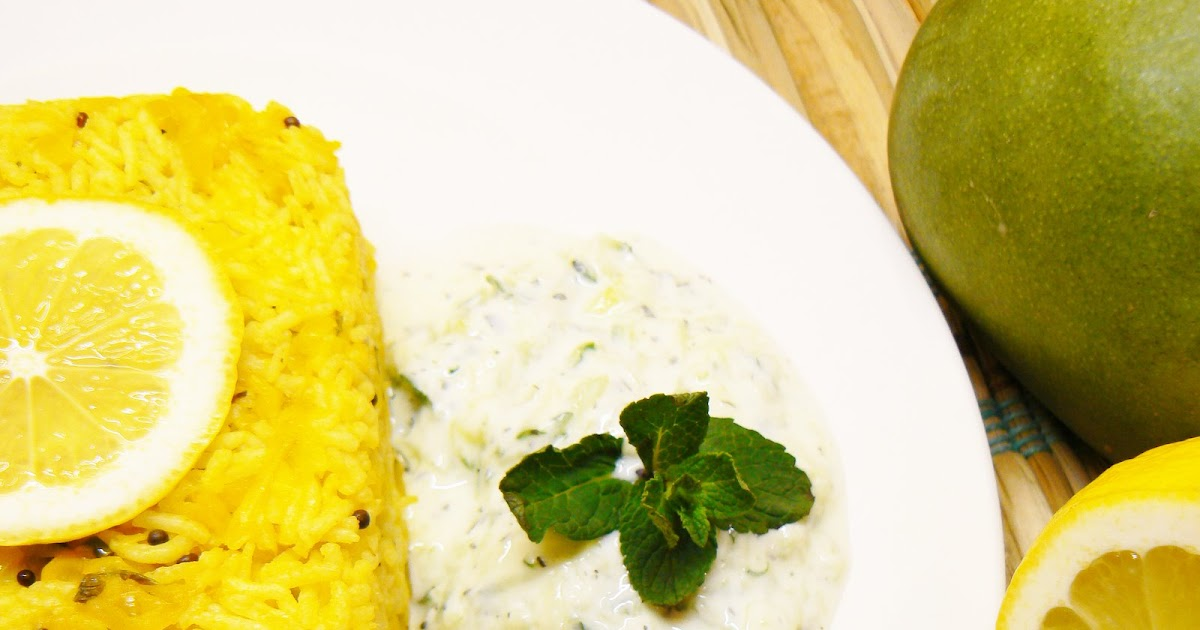 ... | Unveil the Magic of Spices...: Mango Rice with Cucumber-Mint Raita