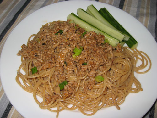 Zha Jiang Mian on Spaghetti
