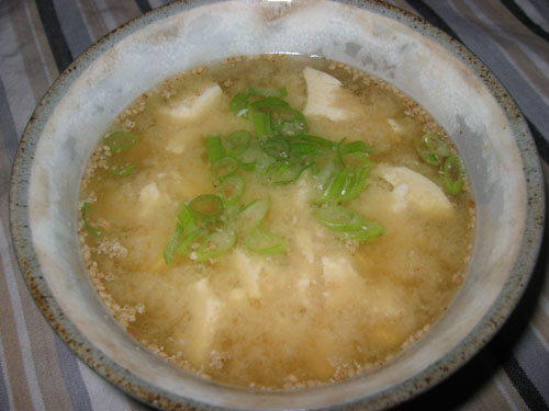 Tofu and Sesame Miso Soup