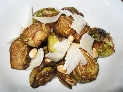 Roasted Brussels Sprouts with Balsamic Vinegar, Pine Nuts and ...