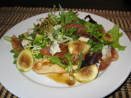 Chicken Paillard with Fresh Fig Salad