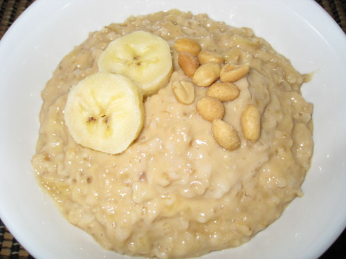 Banana and Peanut Butter Oatmeal