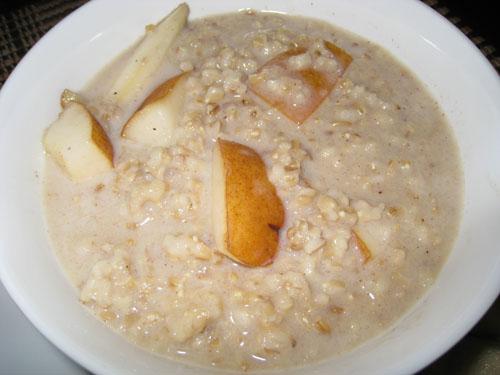 Pear Crisp Oatmeal