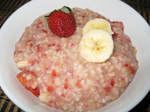 Strawberry and Banana Oatmeal