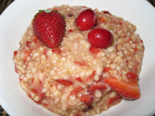 Strawberry and Cranberry Oatmeal