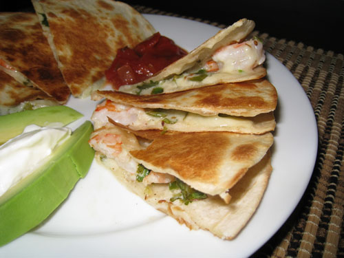 Shrimp Quesadillas on Closet Cooking