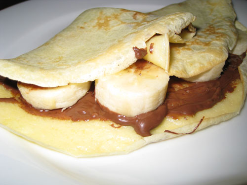Crepes de Nutella y Banana Banana And Nutella Crepes