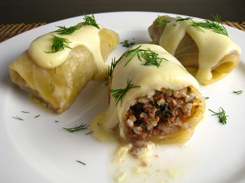 Lahanodolmades (Stuffed Cabbage)