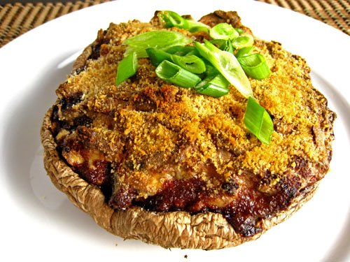 Creamy Stuffed Portabella Mushroom