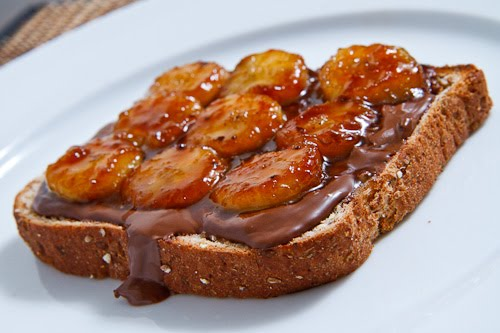 Nutella and Caramelized Banana Sandwich