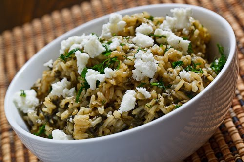 Spanakorizo (Greek Spinach Rice)