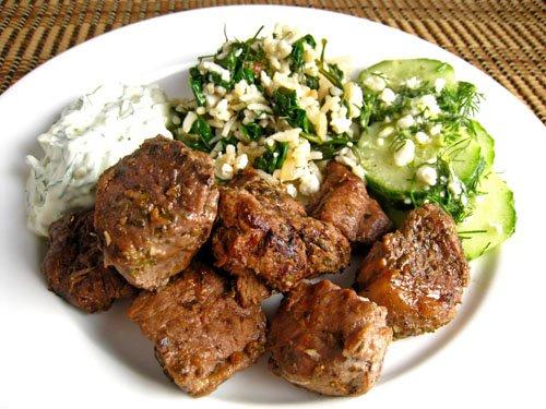 Lamb Souvlaki on Closet Cooking