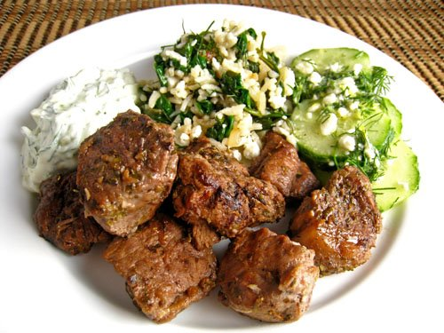 Lamb Souvlaki on Closet Cooking