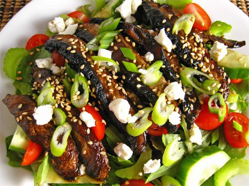 Teriyaki Portabella Mushroom Salad
