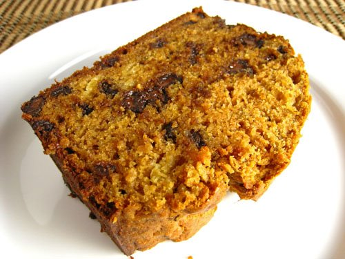Curried Chocolate Chip Banana Bread, Slice