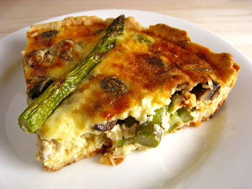 Asparagus and Mushroom Quiche