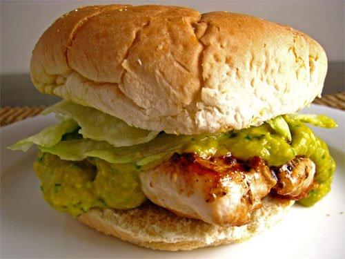 Chicken Mango Guacamole Sandwich