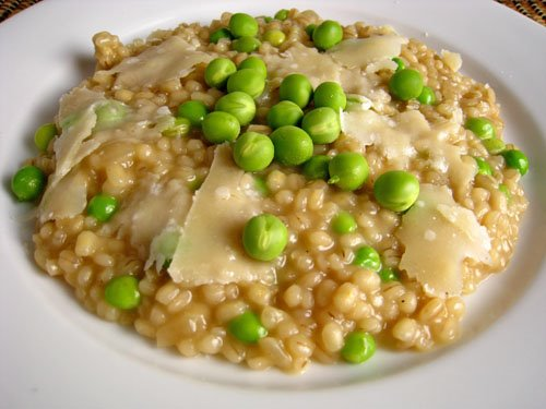 Pea Barley Risotto