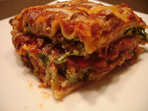 Spinach Black Bean Lasagna