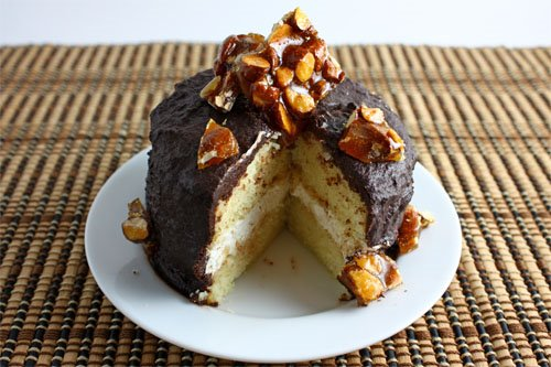 Filbert Gateau with Praline and Buttercream (Sliced)