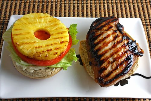 Home Cooking Kitchen: Grilled Teriyaki Chicken and Pineapple Sandwich