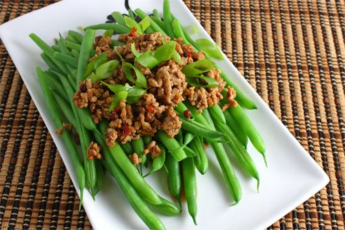 Green Beans with Sichuan Pork on Closet Cooking