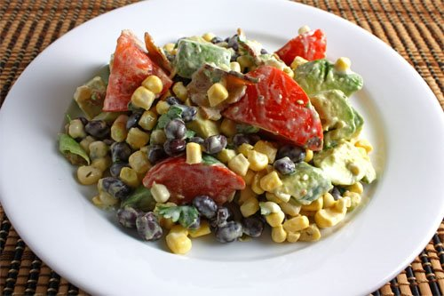 Avocado and Sweet Corn Salad on Closet Cooking