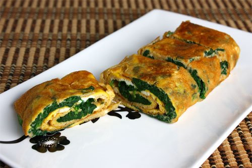 Spinach Tamagoyaki