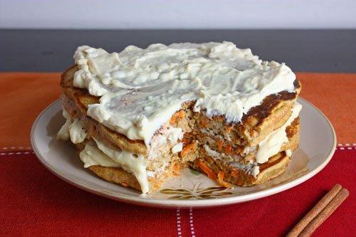 Carrot Cake Pancakes on Closet Cooking