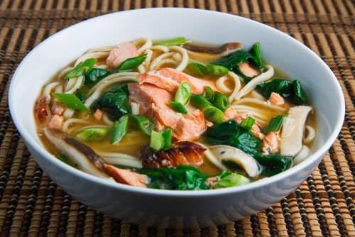 Salmon Noodle Soup on Closet Cooking
