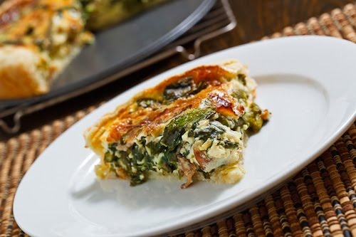 Asparagus and Spinach Quiche on Closet Cooking