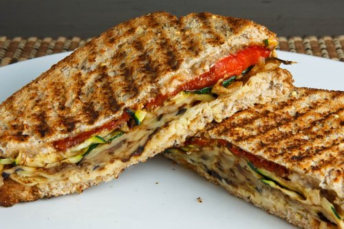 Grilled Vegetable Panini on Closet Cooking