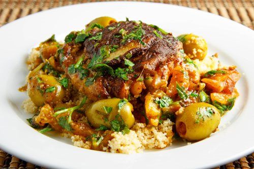 Moroccan Chicken Tagine with Olives and Preserved Lemons on Closet ...