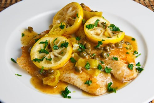Tilapia Piccata on Closet Cooking