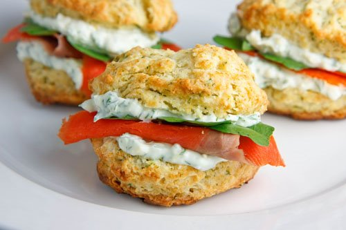 """... it with salmon and I'm sold. It's tagged as """"Dill Biscuits"""