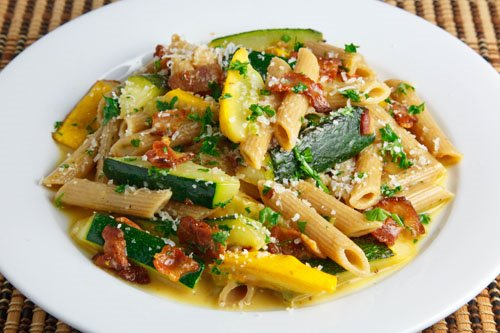 Zucchini Carbonara Recipe — Dishmaps