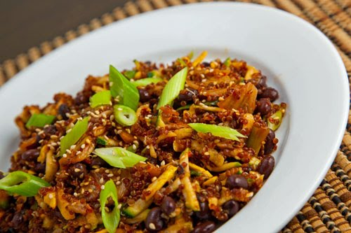 Zucchini and Kimchi Quinoa Salad