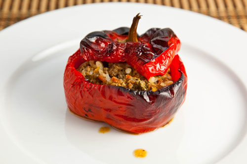 Gemista (Greek Stuffed Tomatoes and Peppers)