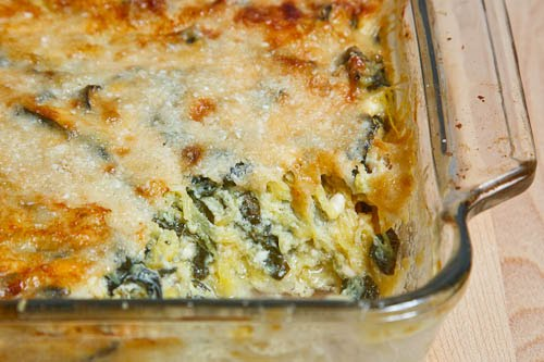 Spaghetti Squash and Chard Gratin