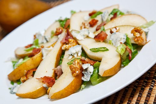 Pear Salad with and Bacon, Gorgonzola and Candied Walnuts on Closet ...