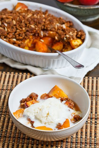 Peach Amaretti Crumble