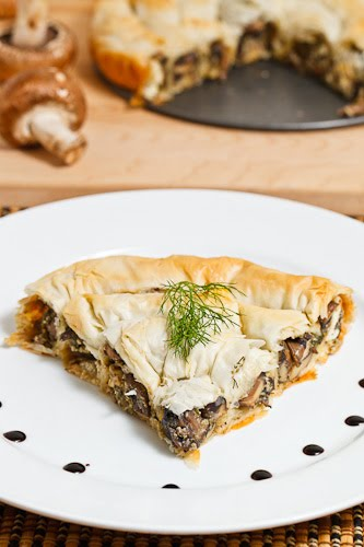 Mushroom and Feta Phyllo Pie
