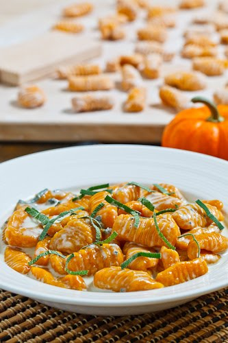 Pumpkin Gnocchi In A Creamy Gorgonzola Sauce Recipe — Dishmaps