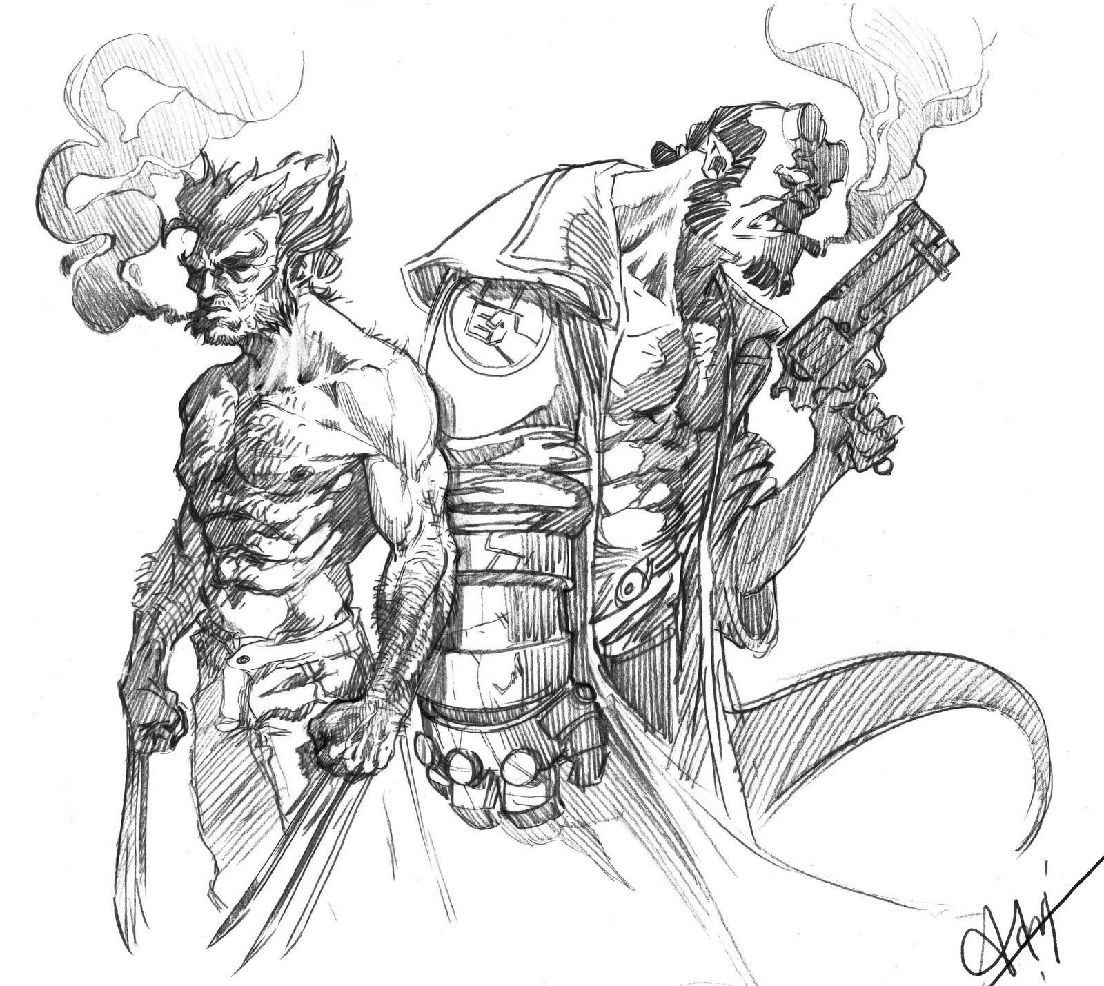 Brique a vrac wolverine hellboy - Wolverine dessin ...