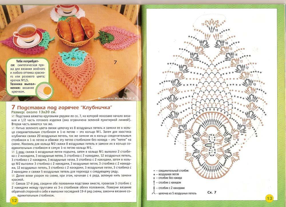 Крючком схемы поделки 54